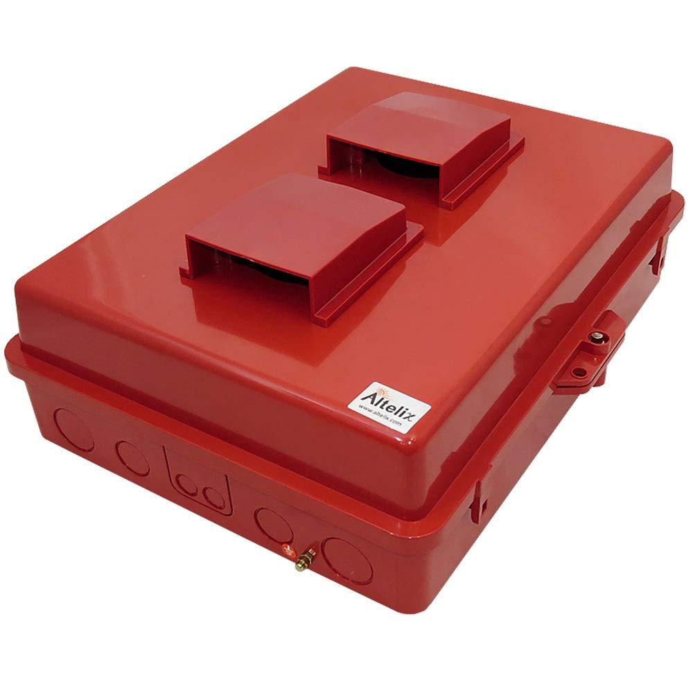 Altelix Vented Red NEMA Enclosure (14'' x 9'' x 4.5'' Inside Space) Polycarbonate + ABS Tamper Resistant Weatherproof
