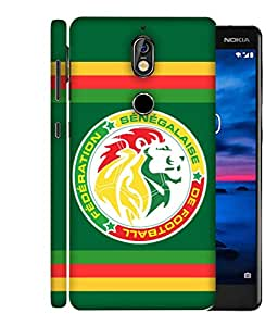 ColorKing Football Senegal 13 Green shell case cover for Nokia 7