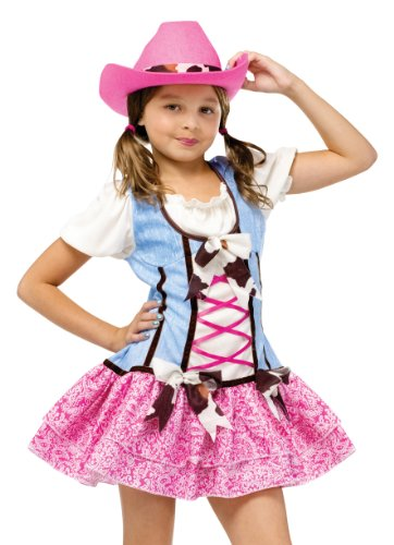 Fun World Girls' Rodeo Sweetie Costume Multicoloured (Little Cowgirl Outfits)