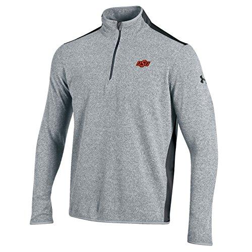 NCAA Oklahoma State Cowboys Men's CGI Fleece 1/4 Zip Jacket, Medium, Gray