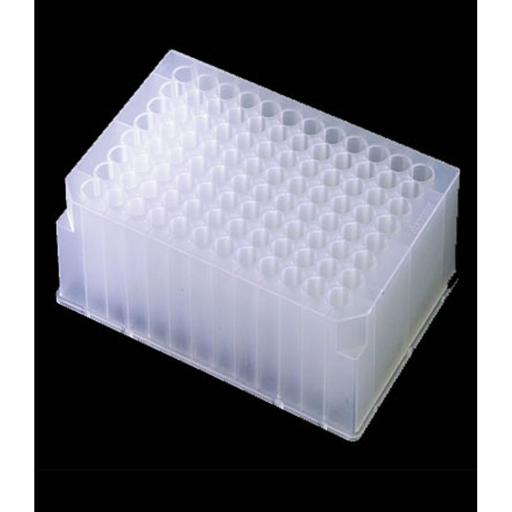 96-Well Deep Well Plate, 2.0ml, Round Wells, Sterile, 50 Plates/Unit by Olympus Plastics