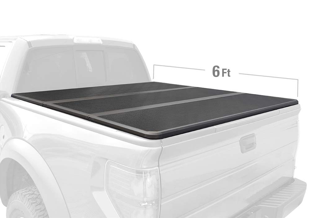 Tyger Auto T3 Tri-Fold Truck Bed Tonneau Cover TG-BC3C1002 Works with 2004-2012 Chevy Colorado/GMC Canyon; 2006-2008 Isuzu I280 | Fleetside 6' Bed