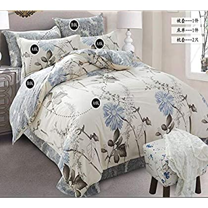 Image of Home and Kitchen HUROohj Cotton,The New Bedding Four Sets,European Style£¬Bedding Kits£¨ 4 Pcs£for Bed Size Twin/Queen/King,£­Queen