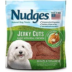 Nudges Premium Jerky Cuts Dog Treats, Chicken Health & Wellness, 18 Ounce