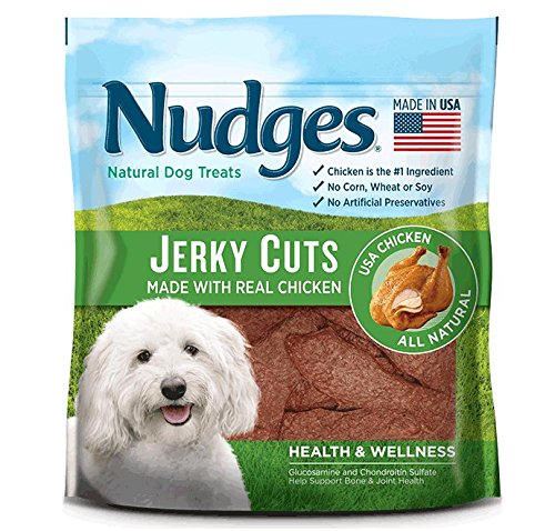 (Nudges Health and Wellness Chicken Jerky Dog Treats, 16 oz)