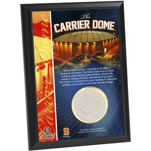 - NCAA Syracuse Carrier Dome Football Jersey Capsule 4x6 Plaque