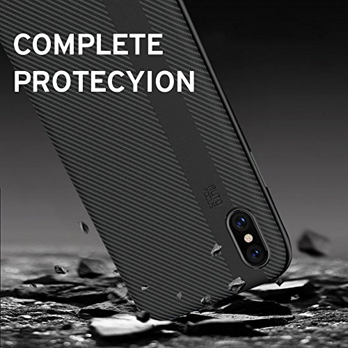 Cover iPhone X,Samione Custodia iPhone X Caso Silicone Bumper Case Assorbimento-Urto TPU Case Ultra Slim Paraurti Protettiva Copertura Case Cover per iPhone X Caso (Nero)