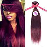 Punzel's 100% Brazilian Human Hair Extensions 99j Straight Bundles 1pcs/Lot Review