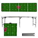 NCAA Wesleyan University Cardinals Football Field Version Folding Tailgate Table, 8'