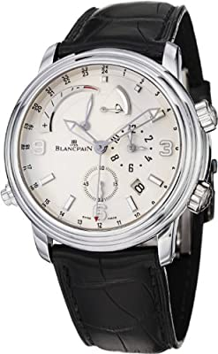 Blancpain Leman Reveil GMT Alarm Men's Automatic White Gold Watch 2841.1542.53B
