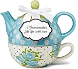 Pavilion Gift 49008 You and Me Tea for One Teapot Set by Jessie Steele