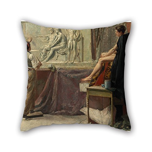 - Pillowcase 18 X 18 Inches / 45 By 45 Cm(both Sides) Nice Choice For Dinning Room Lounge Saloon Club Chair Wedding Oil Painting Tom Roberts - The Sculptor's Studio