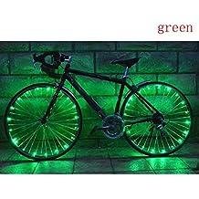 Ecosin Wheel Lights 20Led Steel Light Mountain Bike Night Riding String Lights Wheel Lights (Green)