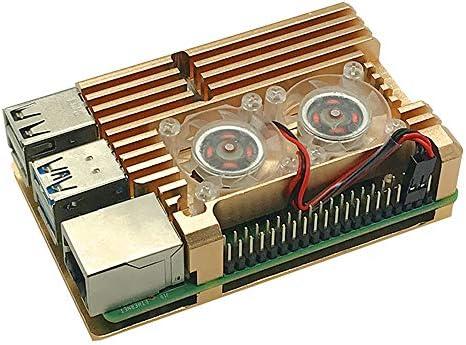 RLTech Caja para Raspberry Pi 4 Modelo B, disipador de Calor para ...