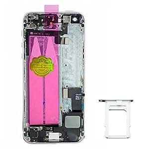 Carcasa trasera para iPhone 5S, metal, plata, Housing Assembly