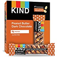 KIND Bars, Peanut Butter Dark Chocolate, Gluten Free, 1.4oz, 12 Count