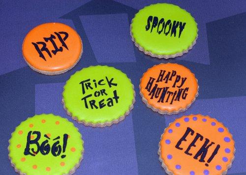 Designer Stencils C574 Small Halloween Cookie Stencil Sayings, Beige/semi-transparent by Designer Stencils (Image #2)