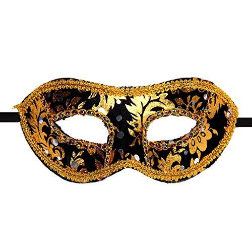 [Luweki Venetian Masquerade Halloween Mask BK] (Masquerade Mask Tattoo)