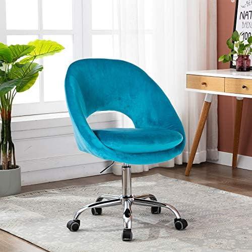 SSLine Cute Desk Chair,Modern Velvet Home Office Chair Desk Chair,Task Computer Chair