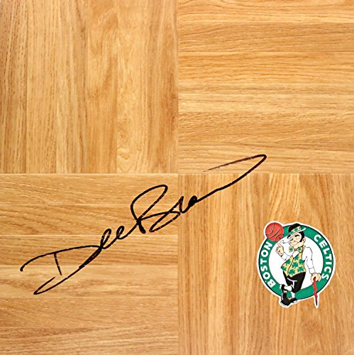 Dee Brown Boston Celtics Signed Autographed Basketball Floorboard