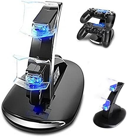 Achieer PS4 Controller Charger, Dual USB Charging Charger Docking Station Stand for Playstation 4 Controller