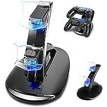 Achieer Cargador doble para controles de PS4 por USB, estación de carga para controladores de PlayStation 4.
