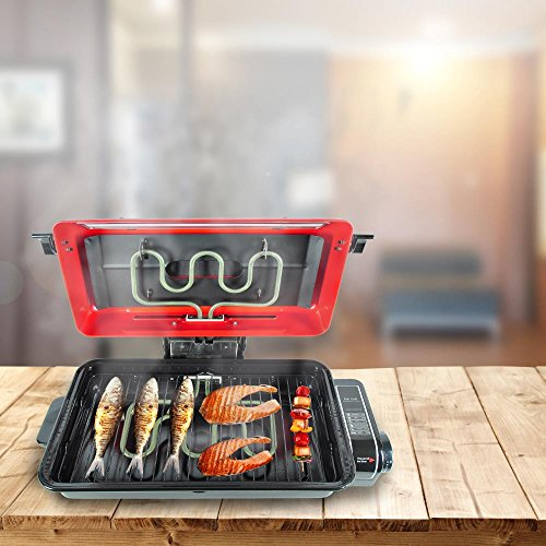 NutriChef PKFG14 Small Countertop Appliance One Size Red