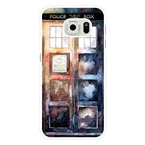 Samsung Galaxy S6 Case, Customized Doctor Who Police Call Box White Hard Shell Samsung Galaxy S6 Case, Doctor Who Galaxy S6 Case(Not Fit for Galaxy S6 Edge)
