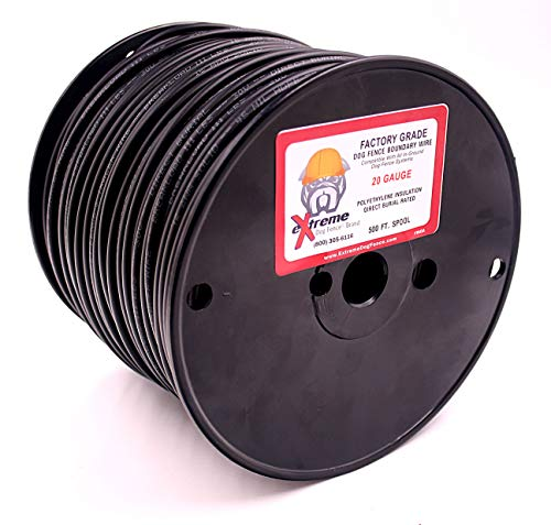 Wire 500' Spool - Professional Electric Dog Fence Wire - Solid Core Heavy Duty Direct Ground Burial Rated Perimeter Wire - Stands Up to The Elements on Any Wired Underground Dog Fence - 500 Feet