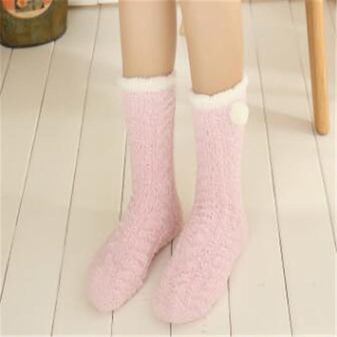 Pirate Tres pares de calcetines calcetines acolchado de terciopelo coral señoras heap calcetines calcetines del sueño