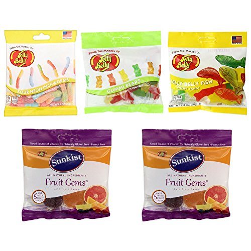 Grab and Go Bags in Gummi Shapes and Flavors by Jelly Belly