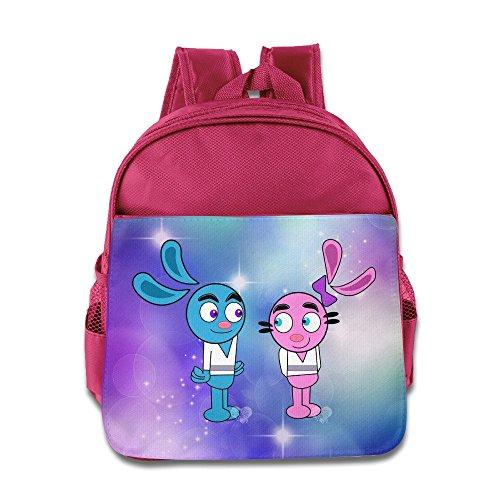 Kids Yin Yang Yo School Backpack Cartoon Children School Bag Pink