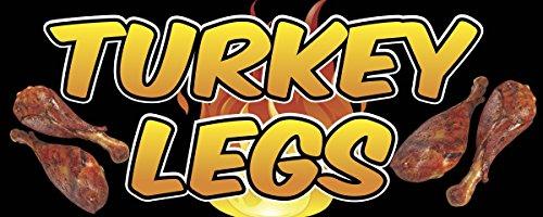 TURKEY LEGS Banner Sign 2ft x 5ft