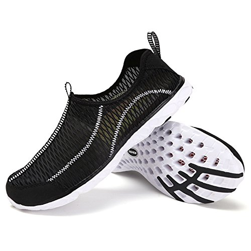 Earsoon Summer Water Shoes Sneakers Men - 2017 New Collection YD17020 Quick Drying Sport Slip On Shoes For Men Women Mesh Outdoor Sports Breathable Sole For Running Walking Shoes Heavy Duty