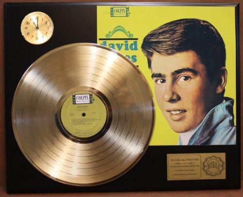 david-jones-ltd-edition-24kt-gold-lp-record-clock-display-quality-collectible