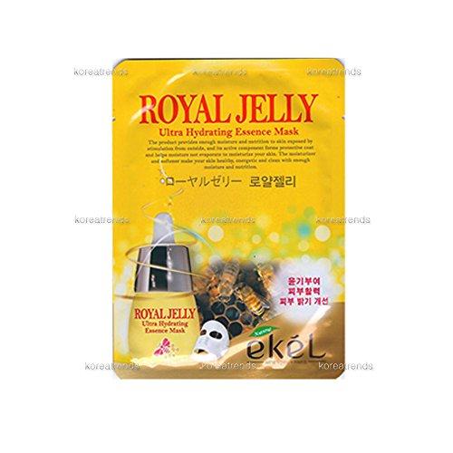 Ekel - 13 Variety Ultra Hydrating Essence Mask Sheets (12. Royal Jelly Mask 10 Sheets) (Royal Potato)