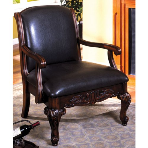 Classic Antique Dark Cherry Accent Chair