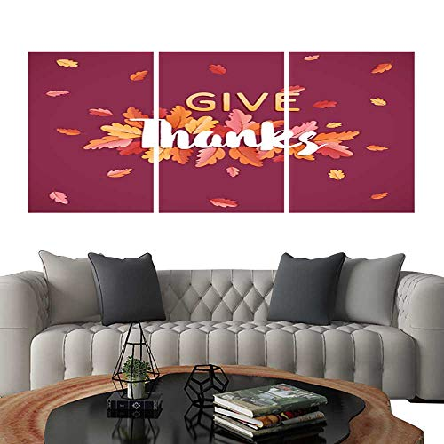 Pictures Paintings on Canvas WallHappy Thanksgiving Holiday typography poster Celebration text with Autumn leaves Background for postcard template cover banner in Vector6. brick wall stickers 16