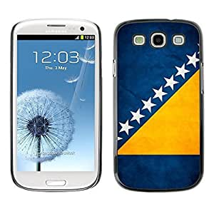 Shell-Star ( National Flag Series-Bosnia and Herzegovina ) Snap On Hard Protective Case For Samsung Galaxy S3 III / i9300 i717 WANGJING JINDA