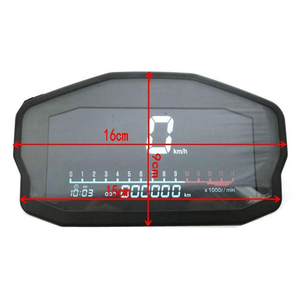 Accessories Auto Professional LCD Tachometer Speedometer Motorcycle LED Backlight Digital Odometer Applicable to 2 4 Cylinders