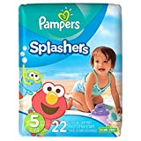 Pampers Splashers Disposable Swim Pants Diapers Size 5, 22-Count