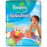 Pampers Splashers Disposable Swim Diapers, Size 5, 22...