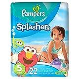 Amazon Price History:Pampers Splashers Swim Diapers Size 5 22 ea by Splashers