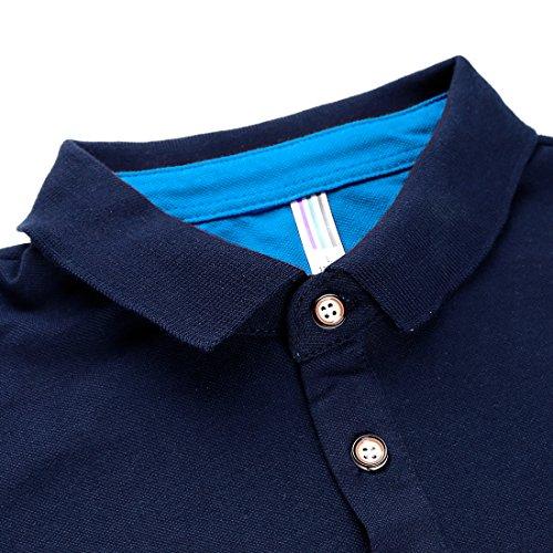 APTRO(アプトロ) ポロシャツ 長袖 メンズ スティッチング スポーツ 綿 ゴルフウェア