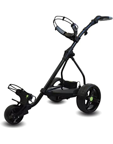 Powerbug P6 Pro Tour - Carro de golf eléctrico con mini batería, color negro