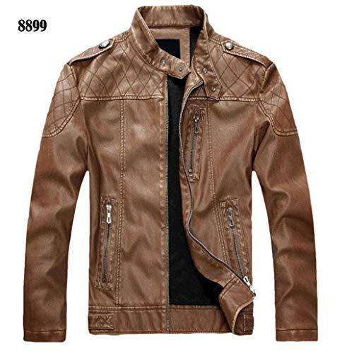 - Oudahood Motorcycle Leather Jacket Coat 8899 Yellow L