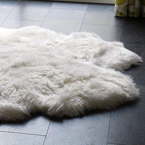 Sheepskin Rug Dry Cleaning: Sheepskin Throw Blanket Chair Cover