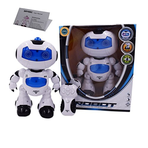 Remote Robot Toys, SAYEEC Electronic Action Walking Dancing Smart Space Dancing Robot Astronaut - For Kids Music Light Toys - Also Can be As Collections / Art / Decoration At Home and Office