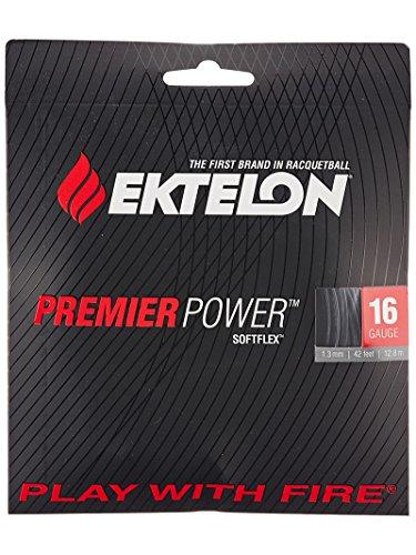Ektelon Premier Power 16 Gauge String, Black