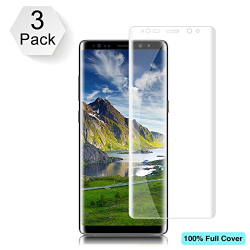[3-Pack] BBInfinite Galaxy Note 8 Screen Protector (Case Friendly Version) [Not Glass] Full Coverage Screen Protector for Samsung Galaxy Note 8 [Bubble Free]